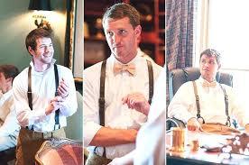 leather suspenders wedding on
