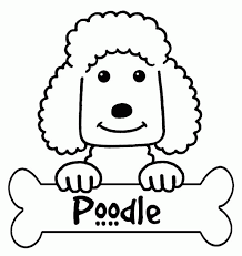 Small Picture Free Poodle Coloring Pages Coloring Home
