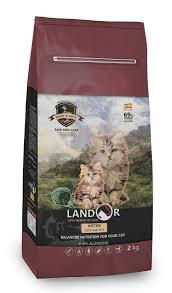<b>LANDOR KITTEN</b> - Полнорационный <b>сухой корм</b> для котят утка с ...
