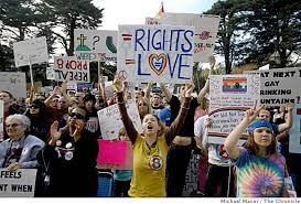 Protests for gay rights