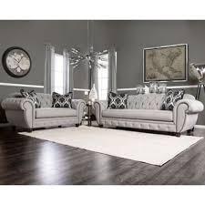 sofa set. Furniture Of America Augusta Victorian Grey 2-piece Sofa Set N