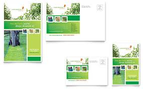 Lawn Care Brochure Lawn Mowing Service Postcard Template Word Publisher