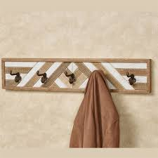 Furniture  Rustic Wall Mounted Coat Hooks That Will Add Substance Wall Hooks Rack