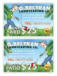 Sample Flyers For Landscaping Business O Beltran Landscaping Co Promotional Flyer Design Tight