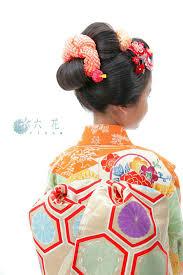 七五三 新日本髪 七歳女の子 レンタル着物着付けヘアメイク写真