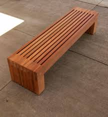 wooden patio bench