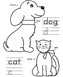 Dog And Cat Coloring Pages Getcoloringpagescom