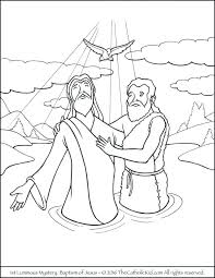 Free Catholic Coloring Pages Photo Luminous Mysteries Download By