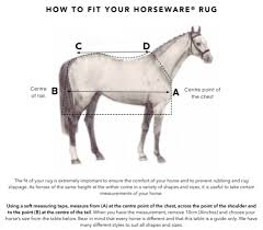 Sizing Chart Horseware Ireland Online In Australia