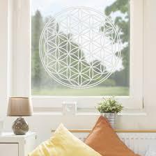 Fensterfolie Fenstertattoo Blume Des Lebens Milchglasfolie