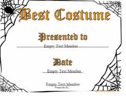 Halloween Costume Awards Haloween Certificates Certificate Creator Create And Print