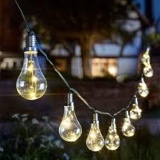 smart solar lightbulb string garden outdoor solar powered lights