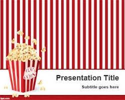 Movie Powerpoint Template Pop Corn Powerpoint Template
