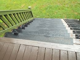 exterior stair treads and nosings. add outdoor stair #treads to prevent wood steps from getting worn down on your # exterior treads and nosings 3