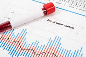 Sample Blood For Screening Diabetic Test In Blood Tube On Blood
