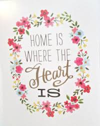 Art Print Quote Art Print Home Is Where The Heart Is Quote Art Etsy New Home Is Where The Heart Is Quote