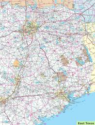 map of east texas