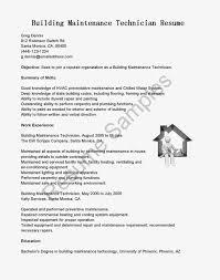 Cover Letter Maintenance Resume Samples Hospital Maintenance