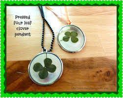 four leaf clover pendant with dimensional mod podge