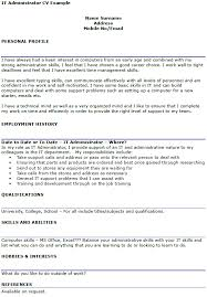 It Administrator Cv Example Icover Org Uk