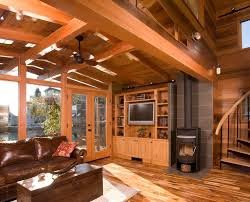Wood Stove Living Room Design Wood Stove Hearth Living Room Scandinavian With Barn Concrete