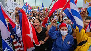 Cuba protests calling on U.S ...