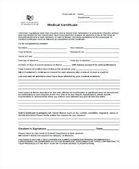 Self Certified Doctors Note Doctors Note For Sick Leave Template Sample Medical Certificate