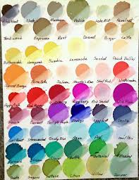 Adirondack Alcohol Ink Colour Chart My Color Chart For Ranger Adirondack Inks In 2019 Alcohol