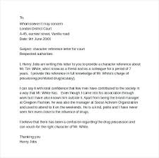 Letter Format To A Judge Best Character Examples Fresh 11 Sample For