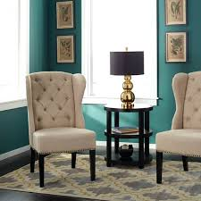 architecture tufted wingback dining chair brilliant inspire q evelyn hostess chairs set of 2 pertaining