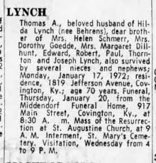 Thomas A Lynch - obituary - Newspapers.com