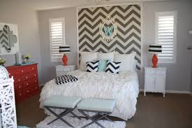 Patterned Wallpaper For Bedrooms How To Wallpaper A Space Using A Chevron Pattern