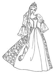 Princess Barbie Coloring Pages To Print Barbie Princess Coloring