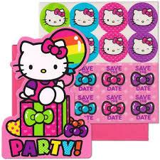 Hello Kitty Invitation Hello Kitty Invitations 8ct