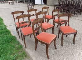 regency dining chairs uk. set 8 antique dining chairs - eight regency mahogany sabre leg bar back uk t