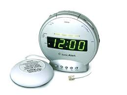 sonic alert sonic boom clock telephone signaler with bed shaker sonic boom alarm clock atomic alarm alarm clock speaker dock i bed