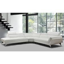 modern couches. Divani Casa Graphite Modern White Leather Sectional Sofa Couches