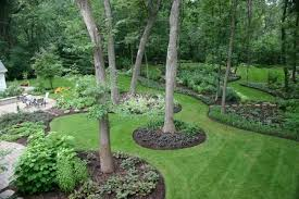 Pretty Backyard Landscaping Ideas with Grasses also Trees plus Plants also  Alluring Patio