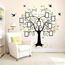 european wall stickers sk2010w heart shaped picture frame big tree bedroom background decorative picture wall stickers with 20 77 piece on