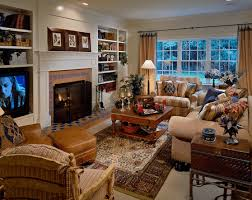 robust and cozy traditional living room