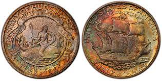 1935 Silver Half Dollar Value Chart 1935 50c Hudson Regular Strike Silver Commemorative Pcgs