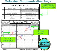 behavior calendars teacher tip clutter classroom