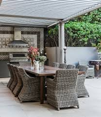 eclectic outdoor furniture. Outdoor Dining Ideas Patio Eclectic With Contemporary Furniture Fabric