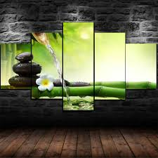 framed flower bamboo stone zen spa