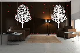 trees bird interior design wall decals decorations brown wallpaper white tree stickers elegant expensive