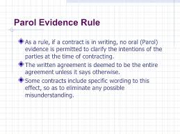 Parol Evidence Rule Chart University Of Calgary Continuing Education Construction