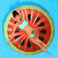 160160cm Inflatable Watermelon Slice Float Pool Water Sports