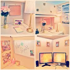 ideas for decorating office cubicle. Pink And Gold Cubicle Decor. Ideas For Decorating Office G