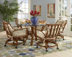 kitchen and table chair dining gallery with rolling chairs picture breakfast dinette sets casters extra room for