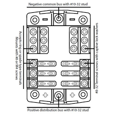 baintech way amp fuse block terminal holder v wd camper baintech 6 way 30 amp fuse block terminal holder 12v 4wd camper motorhome